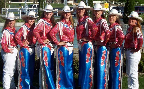 Custom Western Show Apparel (The Dream Weavers Equestrian Drill Team) by Hitch-N-Stitch