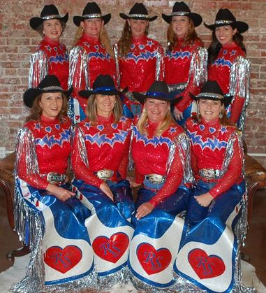 Custom Western Show Apparel - Rodeo Sweethearts Drill Team - by Hitch-N-Stitch